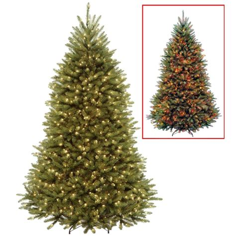 dual color tree national tree company 7 5 ft powerconnect dunhill fir