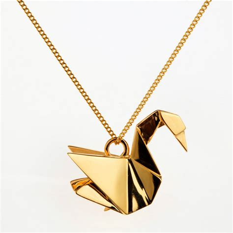 origami jewellery rock it the immortalisation of a swan origami jewellery