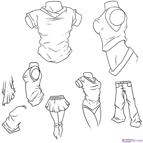 how to draw anime how to draw anime clothes step by step anime