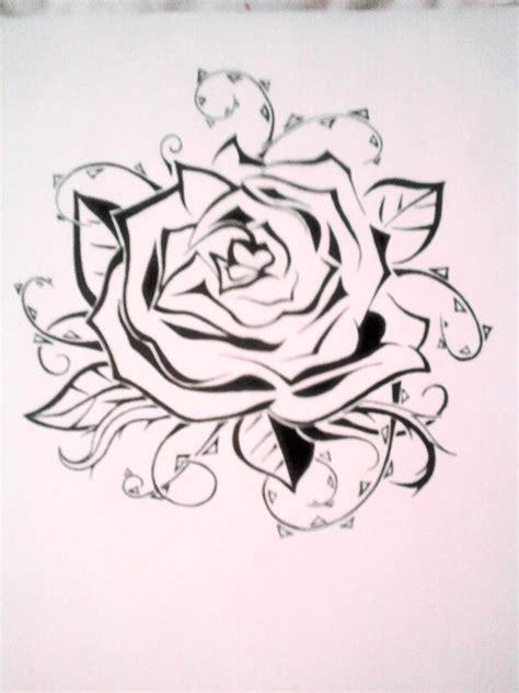 rose tattoo stencil by emkittyart on deviantart