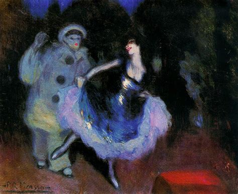 picasso paintings by year pierrot and colombina 1900 pablo picasso wikiart org