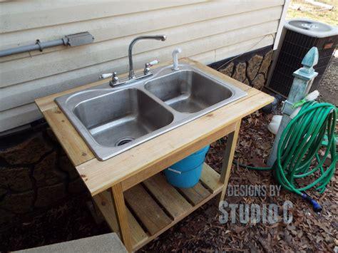 diy kitchen sink diy outdoor sink