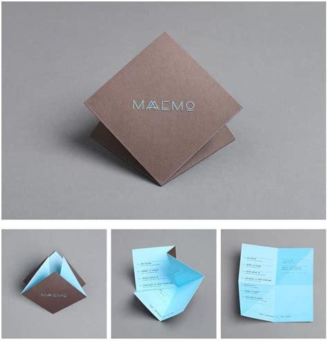 origami foldables origami menu like wuuttt graphic design inspiration