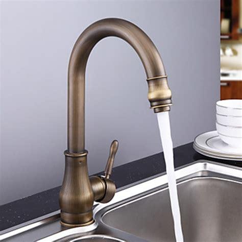 antique brass kitchen faucets antique brass rubbed bronze finish single handle