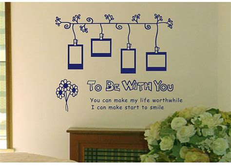 Photo Frame Wall Stickers to be with you photo frame wall sticker wallstickerdeal com