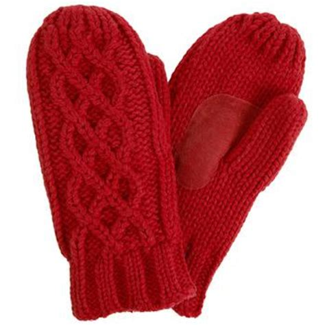 knit mittens with fleece lining isotoner cable knit mittens suede palm fleece lined asst