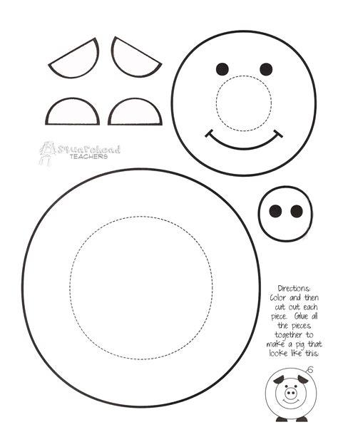 crafts printable paint a pig craft project squarehead teachers
