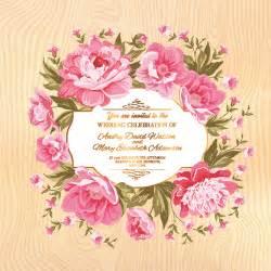 flower border wedding invitation free vector download
