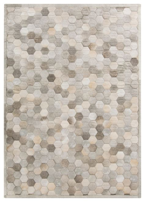 grey and beige area rugs palika global bazaar honeycomb beige gray cowhide rug 2x3