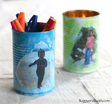pencil holder craft ideas for personalized tin can pencil holder craft for s day