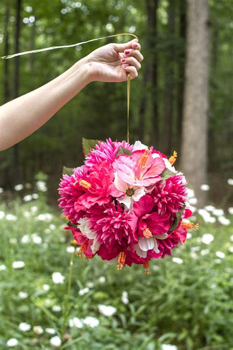 how to make balls how to make hanging flower balls with pictures ehow