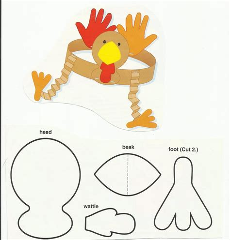 printable thanksgiving crafts for 6 best images of printable preschool thanksgiving crafts