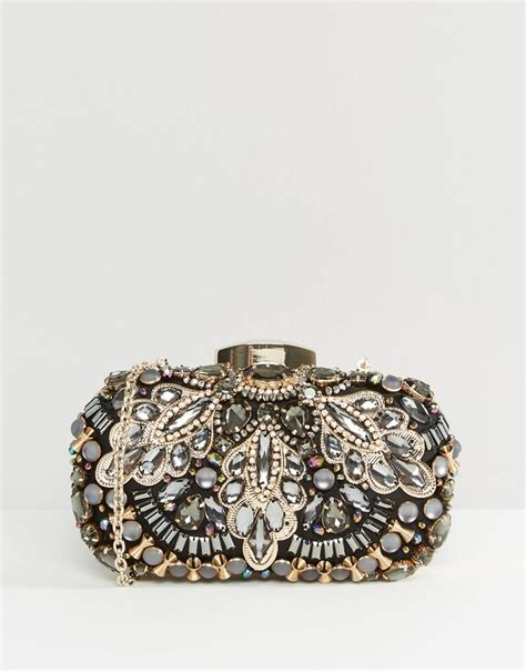 beaded clutch bag aldo aldo beaded box clutch bag at asos