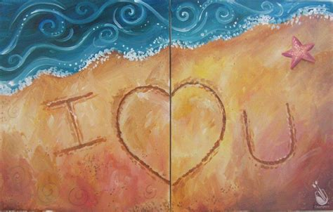 paint with a twist couples letters in the sand couples painting sunday