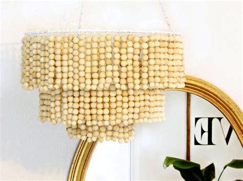 diy bead chandelier diy wooden bead chandelier frankie magazine
