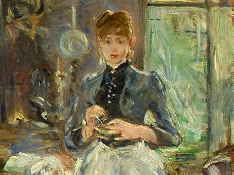 berthe morisot in the dining room cooking storms for