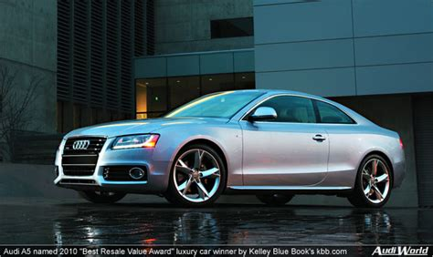 blue book used cars values 2010 audi a5 electronic valve timing audi a5 named 2010 quot best resale value award quot luxury car winner by kelley blue book s kbb com