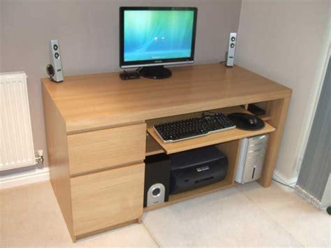 solid wood computer desk sturdy solid wood computer desk atzine