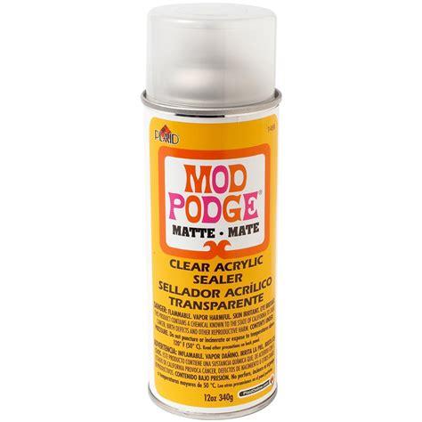 acrylic paint sealant buy mod podge clear sealer matte 12 oz