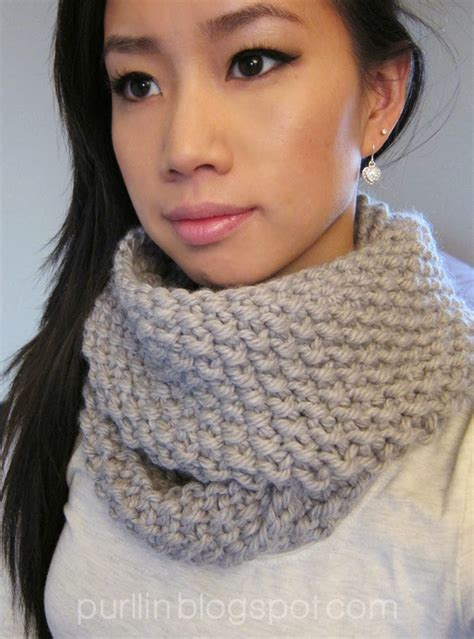 knit an infinity scarf with circular needles purllin december seed stitch infinity circle scarf free
