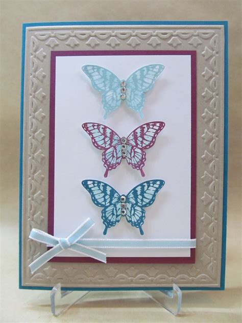 butterfly cards to make savvy handmade cards butterfly trio card