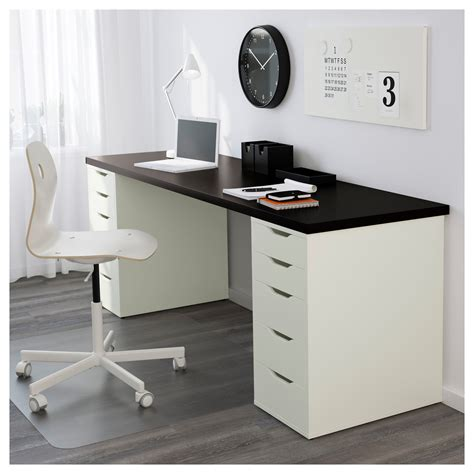 desk for ikea alex linnmon table black brown white 200x60 cm ikea