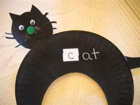 paper plate cat craft black cat paper plate craft crafts