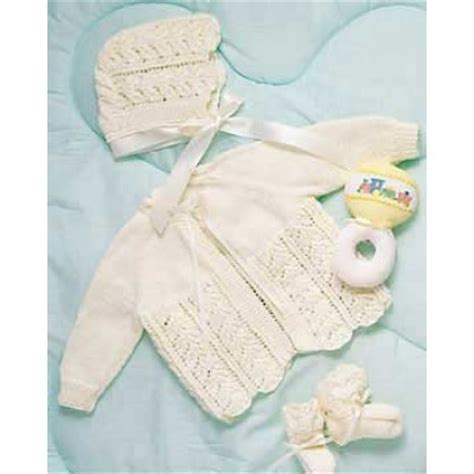 baby layette knitting patterns free baby layette in bernat baby