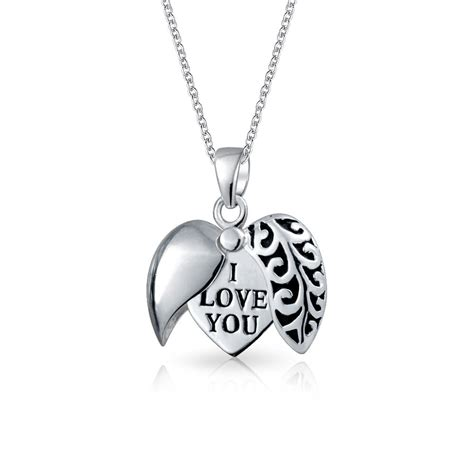 you jewelry open i you filigree pendant 925 silver necklace