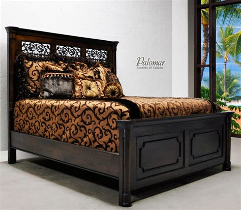 mediterranean style bedroom furniture tuscan style bed with high headboard rustic mediterranean