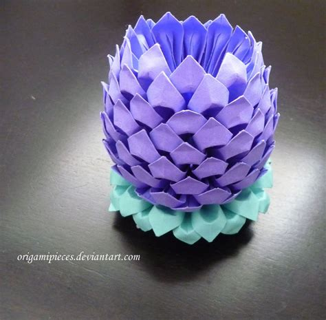easy 3d origami 3d origami lotus by origamipieces on deviantart