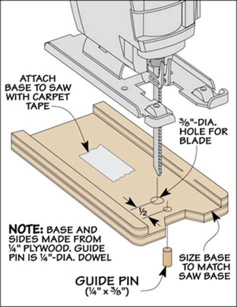 woodwork templates free template cutting with a jig saw woodsmith tips
