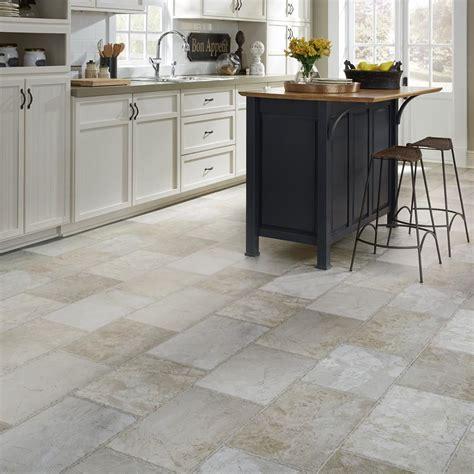 vinyl kitchen flooring ideas resilient vinyl floor upscale rectangular large scale travertine mannington