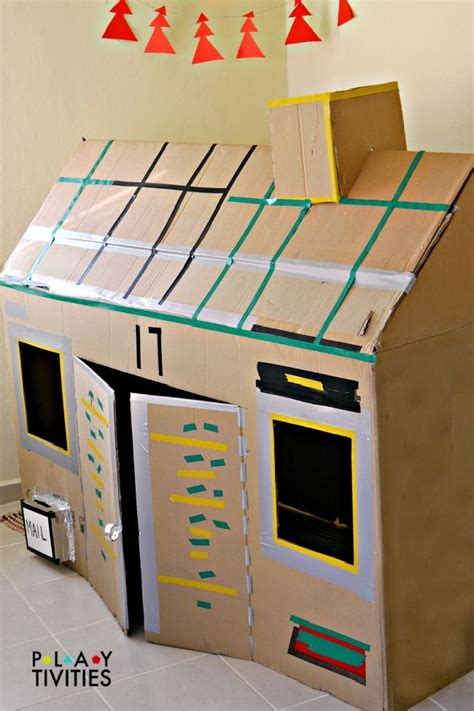 building crafts for how to build the most simple cardboard house from just 1