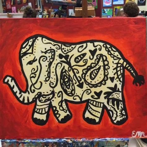 paint with a twist elephant taco and laila picture of painting with a twist orlando