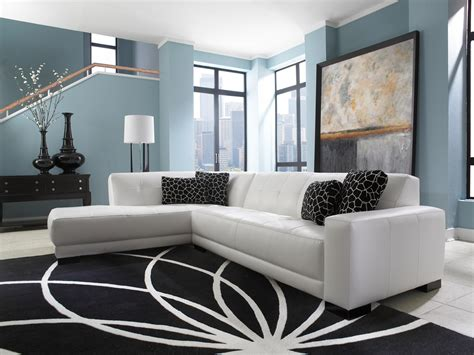 living room with sofa bed mid century white leather tufted sectional chaise lounge
