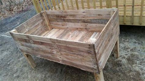 pallet planter box plans recycled pallet garden planter boxes pallet furniture plans