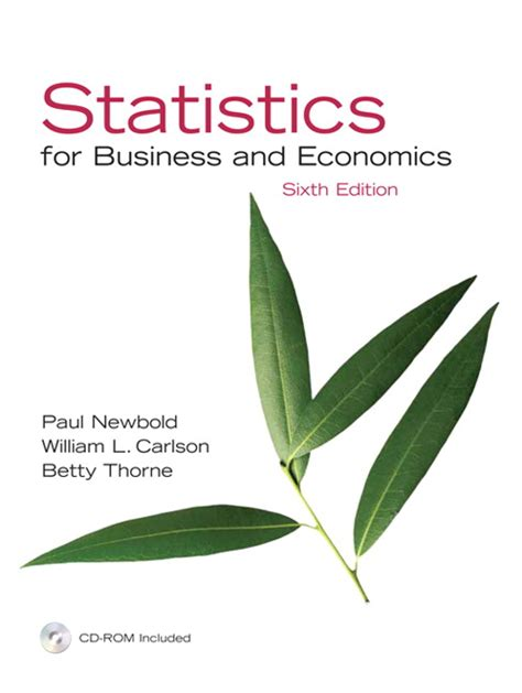 statistics for business economics with xlstat education edition printed access card newbold carlson thorne statistics for business and