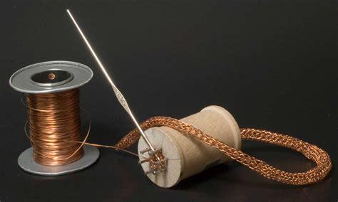knitting with wire make a wire knitting spool shoebox studio jewelry