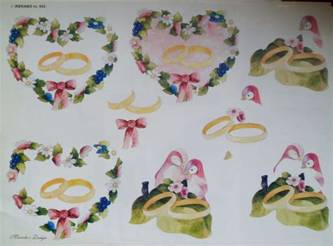 3d decoupage pictures 3d decoupage sheet a4 birds and wedding rings