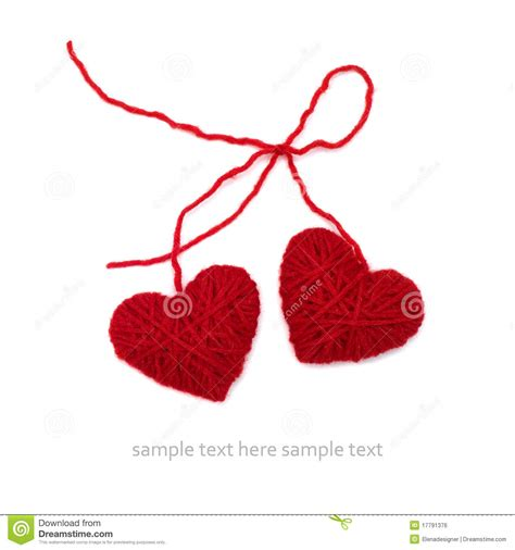 hearts knit together in knitted hearts royalty free stock image image 17791376