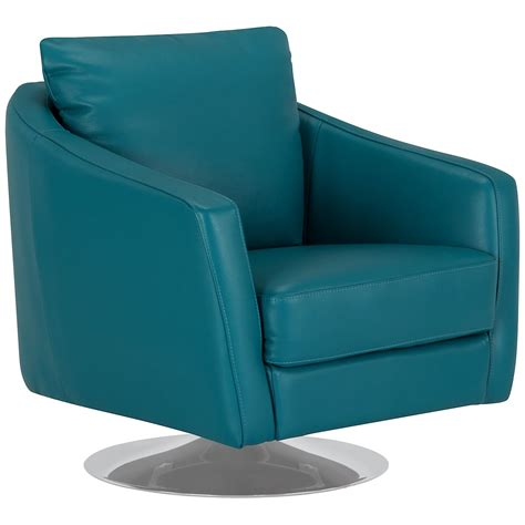 swivel accent chairs city furniture luca teal leather swivel accent chair
