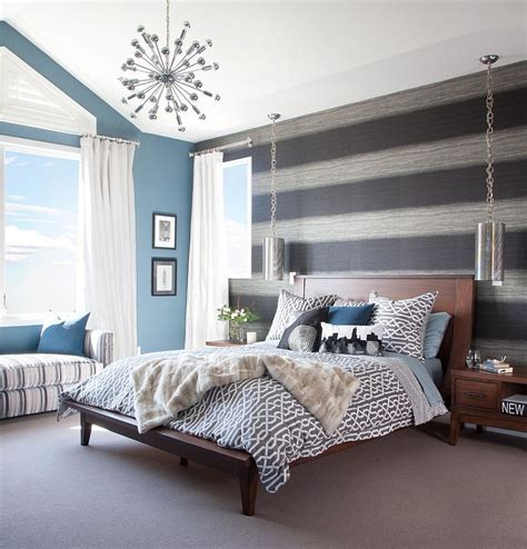 trendy bedroom designs 20 trendy bedrooms with striped accent walls