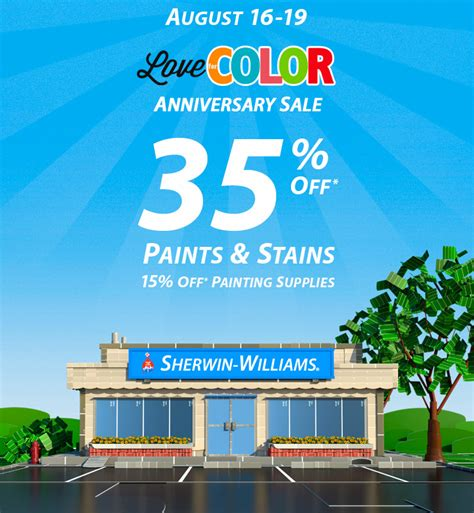 sherwin williams paint store sale sherwin williams anniversary sale a design help