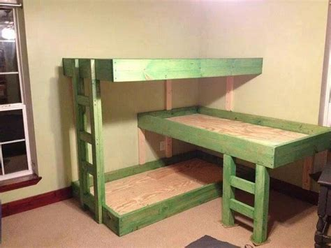 three way bunk bed 3 tier bunk beds i can make these chang e
