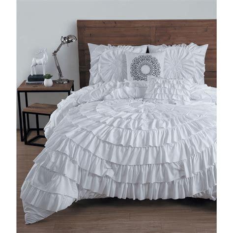 ruffled bedding sets avondale manor ruffled 5 comforter set ebay