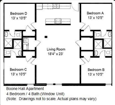 4 bedroom open floor plans boone apartments