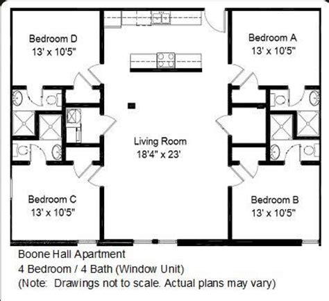 4 bedroom open floor plans boone apartments