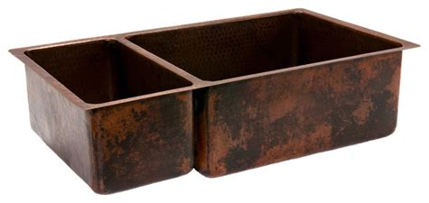 rustic kitchen sinks 33 quot copper kitchen 25 75 basin sink rustic