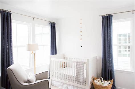 white and grey nursery curtains nursery with blue linen curtains transitional nursery